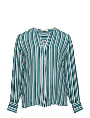 Striped blouse - GREEN