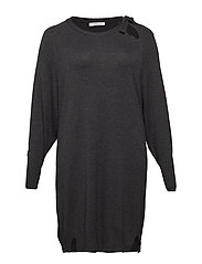 Bow knitted dress - DARK GREY