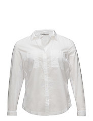 Ribbed panel shirt - NATURAL WHITE