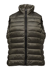 Pocketed quilted gilet - BEIGE - KHAKI