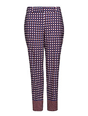 Flowy checked trousers - NAVY
