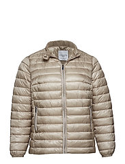 Pocket quilted jacket - LIGHT BEIGE