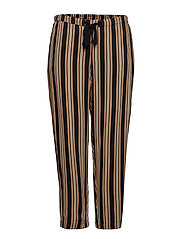 Flowy straight-fit trousers - MEDIUM BROWN