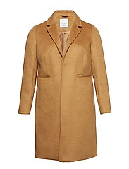 Wool overcoat - MEDIUM BROWN