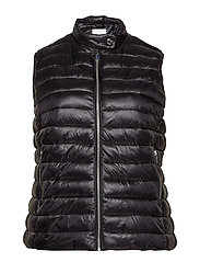 Pocketed quilted gilet - BLACK