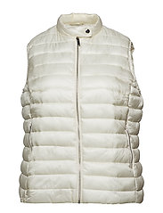 Pocketed quilted gilet - NATURAL WHITE