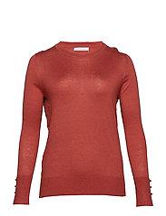 Fine-knit sweater - RUST - COPPER