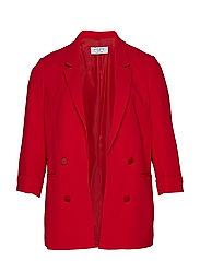 Structured Suit Blazer Blazer Kavaj Röd VIOLETA BY MANGO