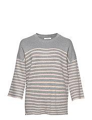 Oversize printed sweater - GREY