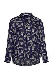 Animal print shirt - LT PASTEL GREY
