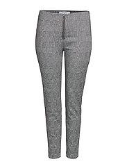 Checks print leggings - GREY