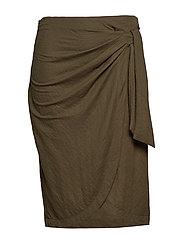 Bow midi skirt - BEIGE - KHAKI