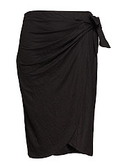 Bow midi skirt - BLACK