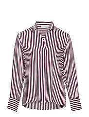 Striped modal blouse - DARK PURPLE