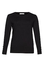 Buttoned cuffs sweater - BLACK