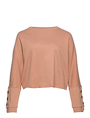Dolman sleeve sweatshirt - LT-PASTEL PINK