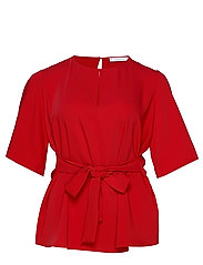 Bow waist blouse - RED