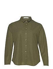 Incorporated top shirt - BEIGE - KHAKI
