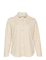 Incorporated top shirt - MEDIUM BROWN