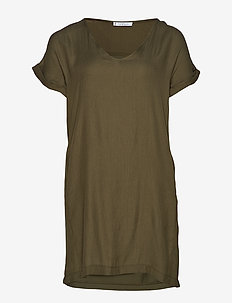 Detachable necklace dress - BEIGE - KHAKI