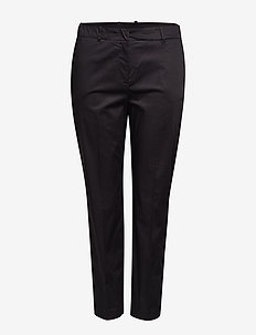 Slim-fit cotton trousers - BLACK