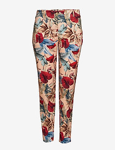 Tropical print trousers - PINK
