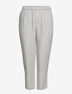 Linen baggy trousers - GREY