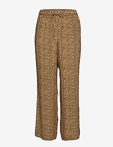 Leopard straight trousers - MEDIUM BROWN