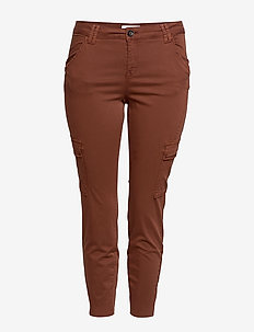 Cotton cargo trousers - MEDIUM ORANGE