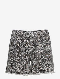 Leopard printed shorts - OPEN GREY