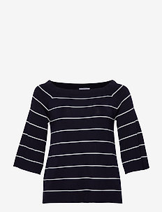 Strip printed sweater - NAVY