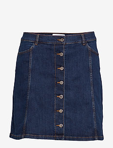 Buttoned denim skirt - OPEN BLUE