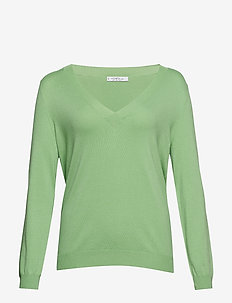 V-neck sweater - GREEN
