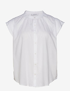 Buttoned cotton shirt - WHITE