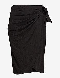 Bow midi skirt - BLACK