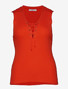 Ribbed top - ORANGE