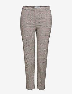 Straight suit trousers - MEDIUM BROWN
