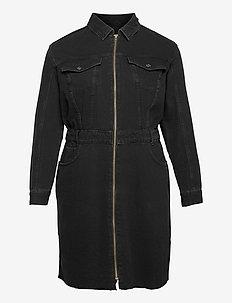 BRITNEY - skjortekjoler - black denim