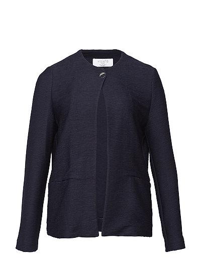 Button texture jacket - NAVY