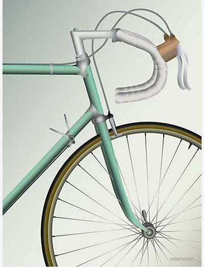 RACING BICYCLE - posters - multi