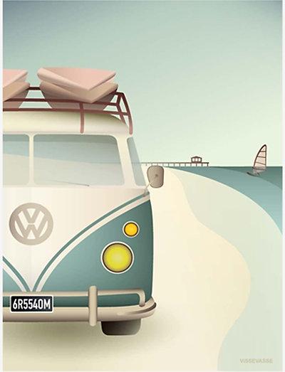 VW CAMPER - plakater - multi