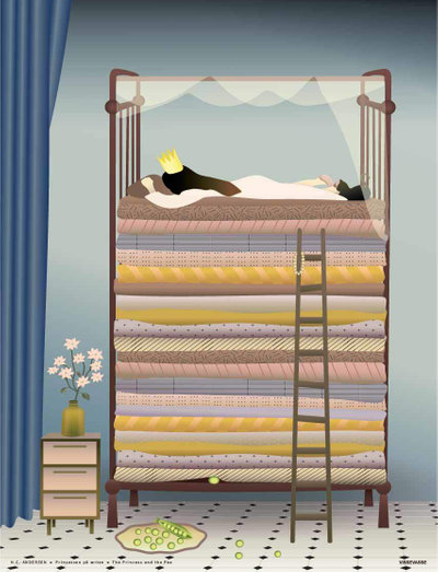 THE PRINCESS AND THE PEA - plakater - multi