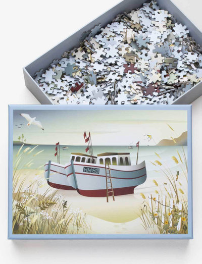 FISHING BOATS - Puzzle 1000 - spil & puslespil - multi
