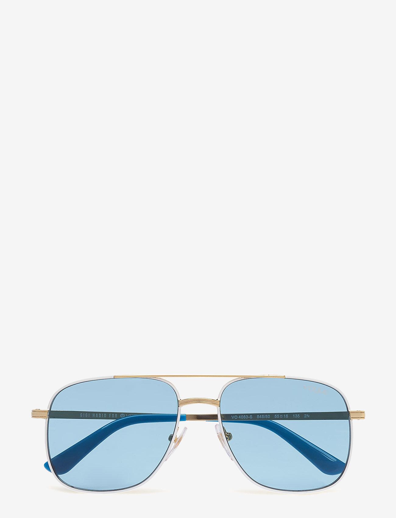 Vogue Eyewear - WOMEN'S SUNGLASSES - okulary przeciwsłoneczne aviator - pale gold/white - 0