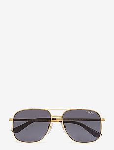 WOMEN'S SUNGLASSES - GOLD/GREY