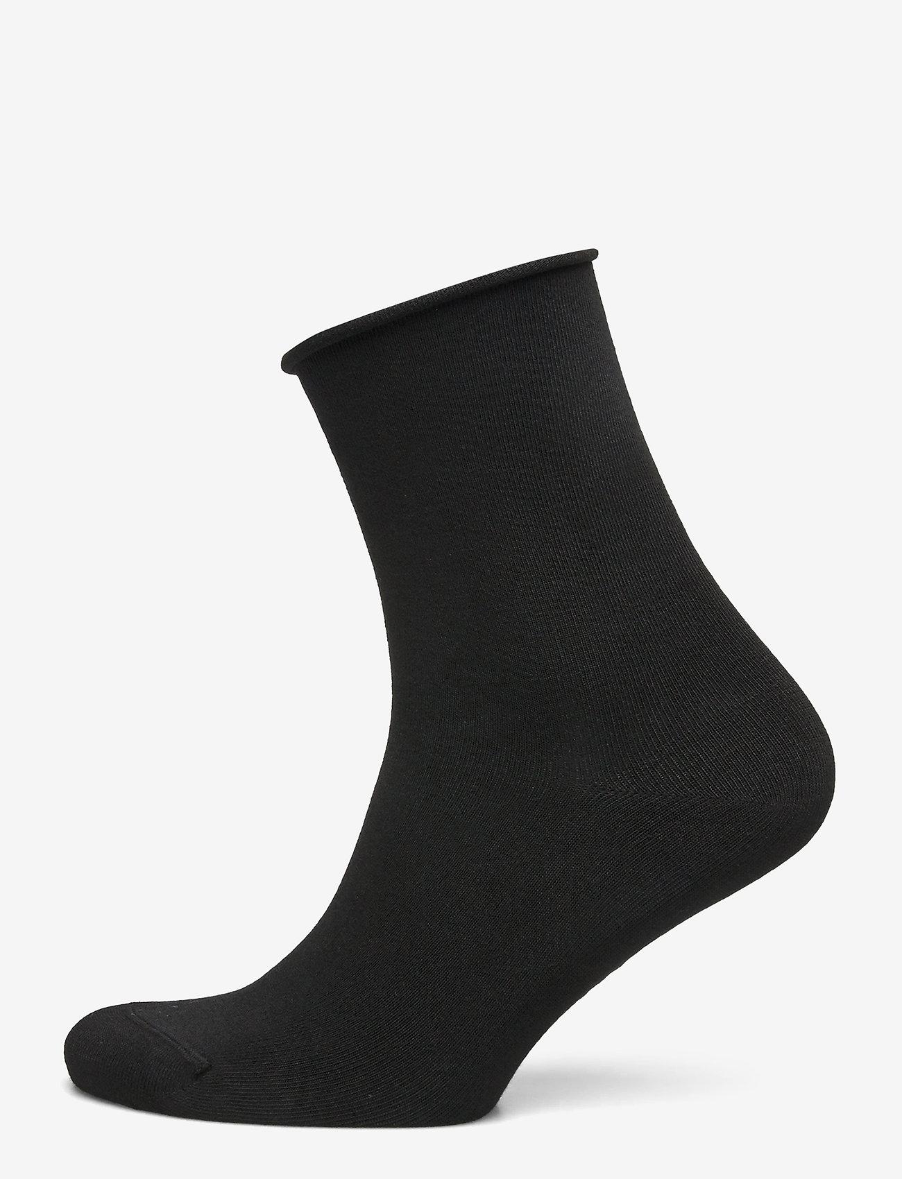 Vogue - Ladies anklesock, Bamboo Comfort Top Socks - sneakersokken - black - 0