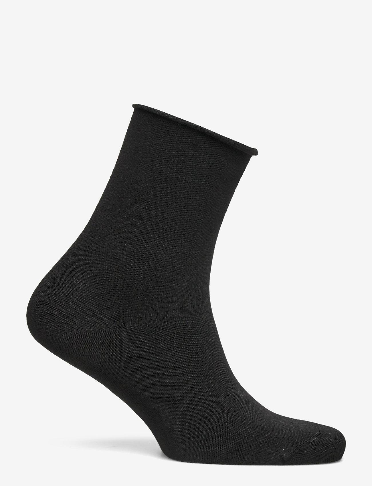 Vogue - Ladies anklesock, Bamboo Comfort Top Socks - sneakersokken - black - 1