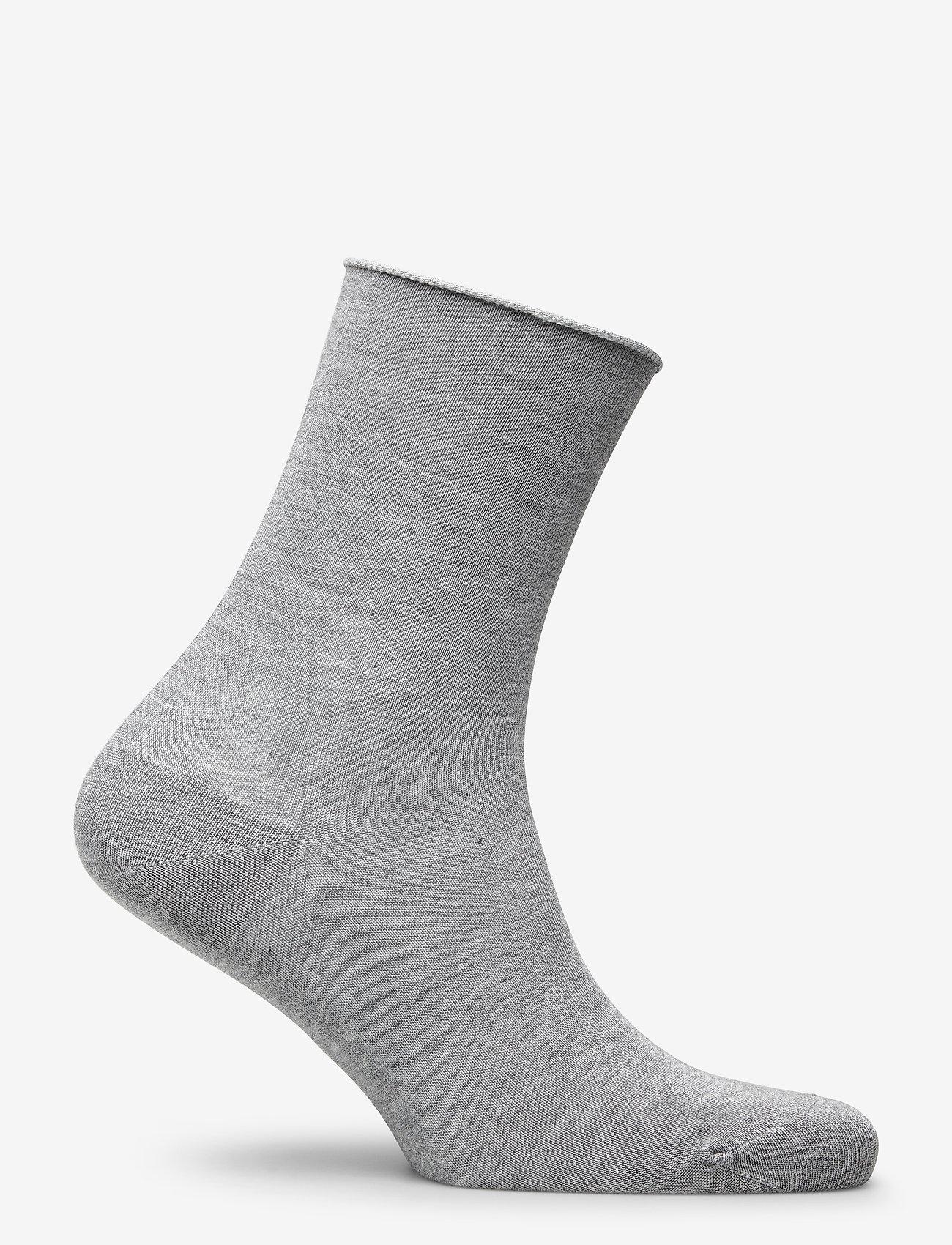 Vogue - Ladies anklesock, Bamboo Comfort Top Socks - footies - l.mel.grey - 1