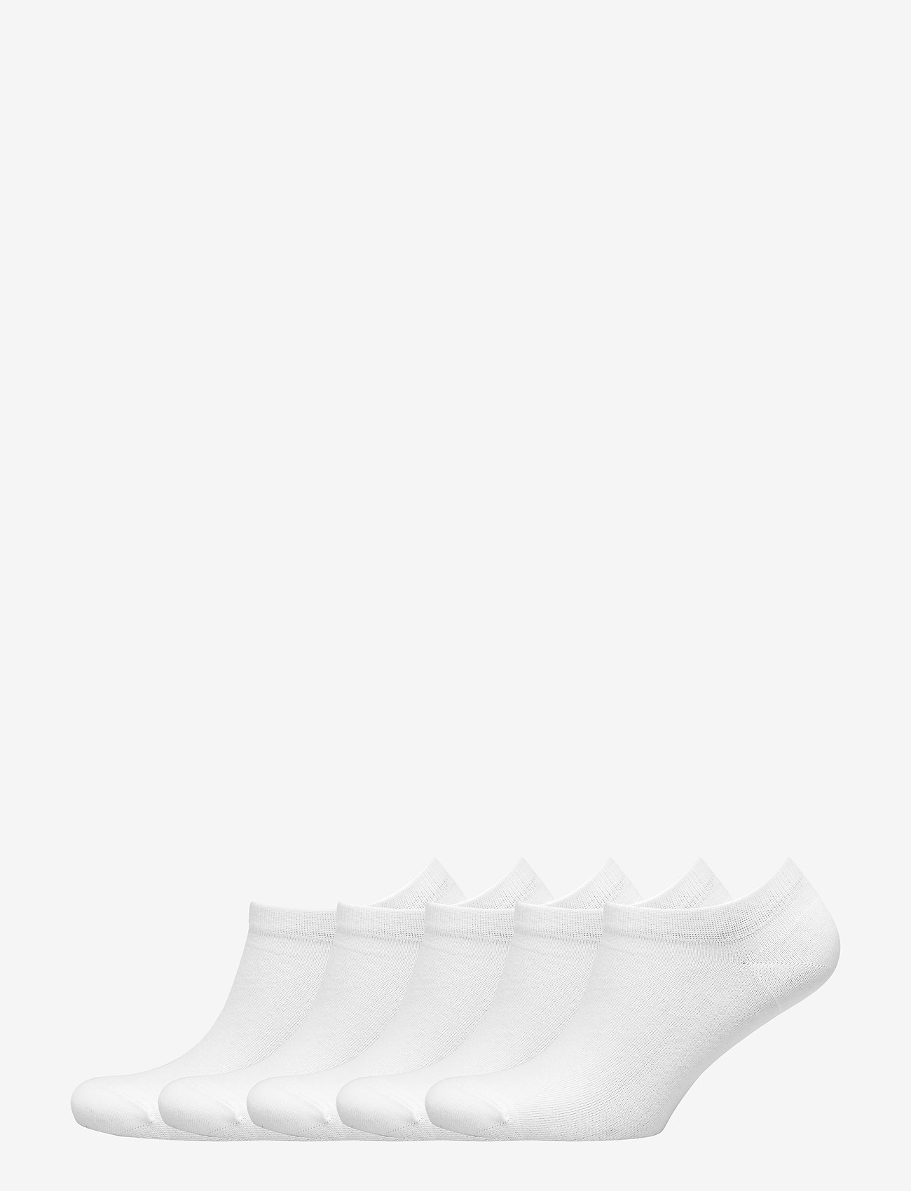 Vogue - Ladies steps, Cotton Basic Sneaker 5-pack - ankle socks - white - 0