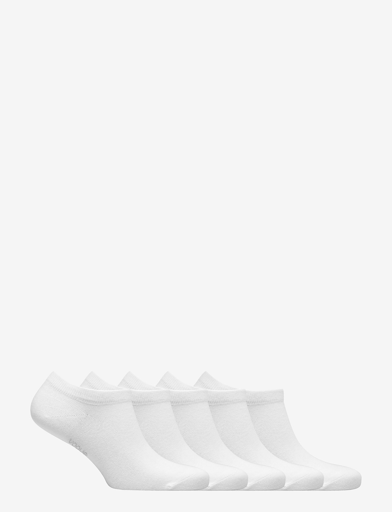 Vogue - Ladies steps, Cotton Basic Sneaker 5-pack - ankle socks - white - 1